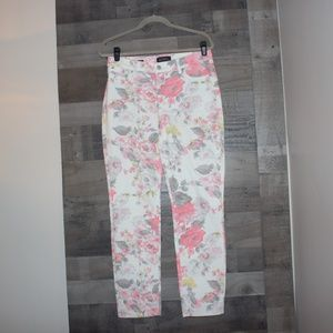 Talbots Flawless Five Pocket 8 Slim Ankle Floral